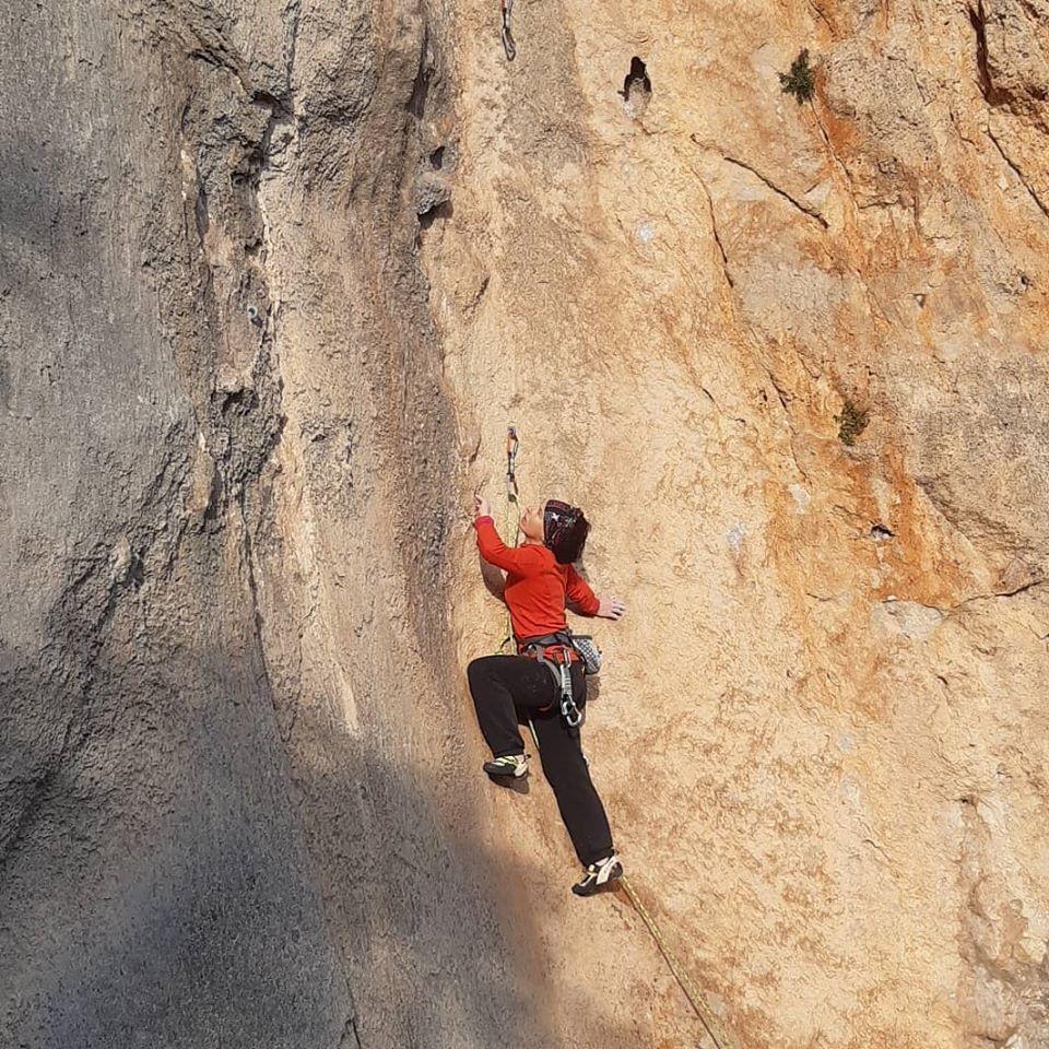 Escalade en falaise avec 100% grimpe salle d'escalade