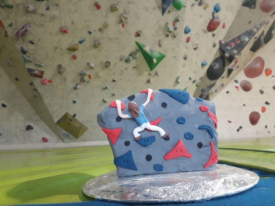 Un goûter d'anniversaire à la salle d'escalade de Perpignan.